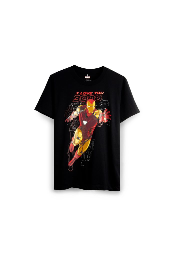 MARVEL END GAME I LOVE YOU 3000 IRON MAN GLOW T-SHIRT