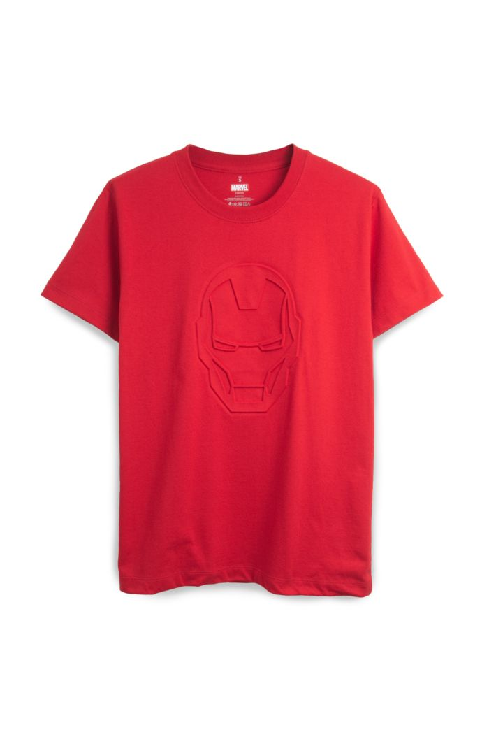 MARVEL IRON MAN EMBOSSED T-SHIRT RED XS