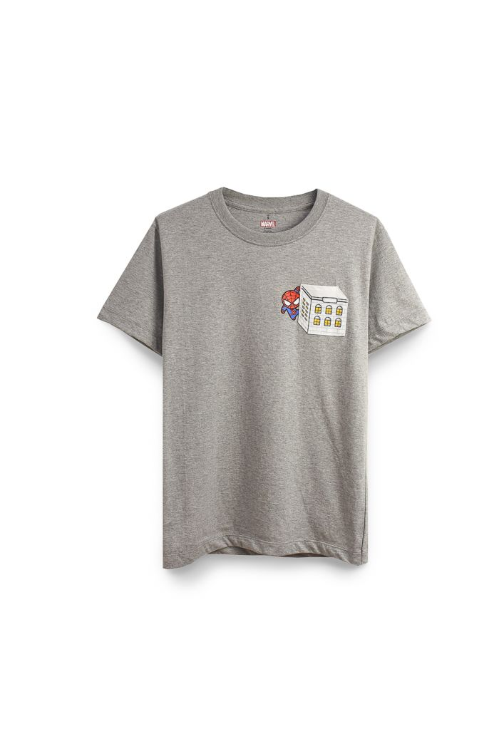 SPIDEY POCKET T-SHIRT GREY XS