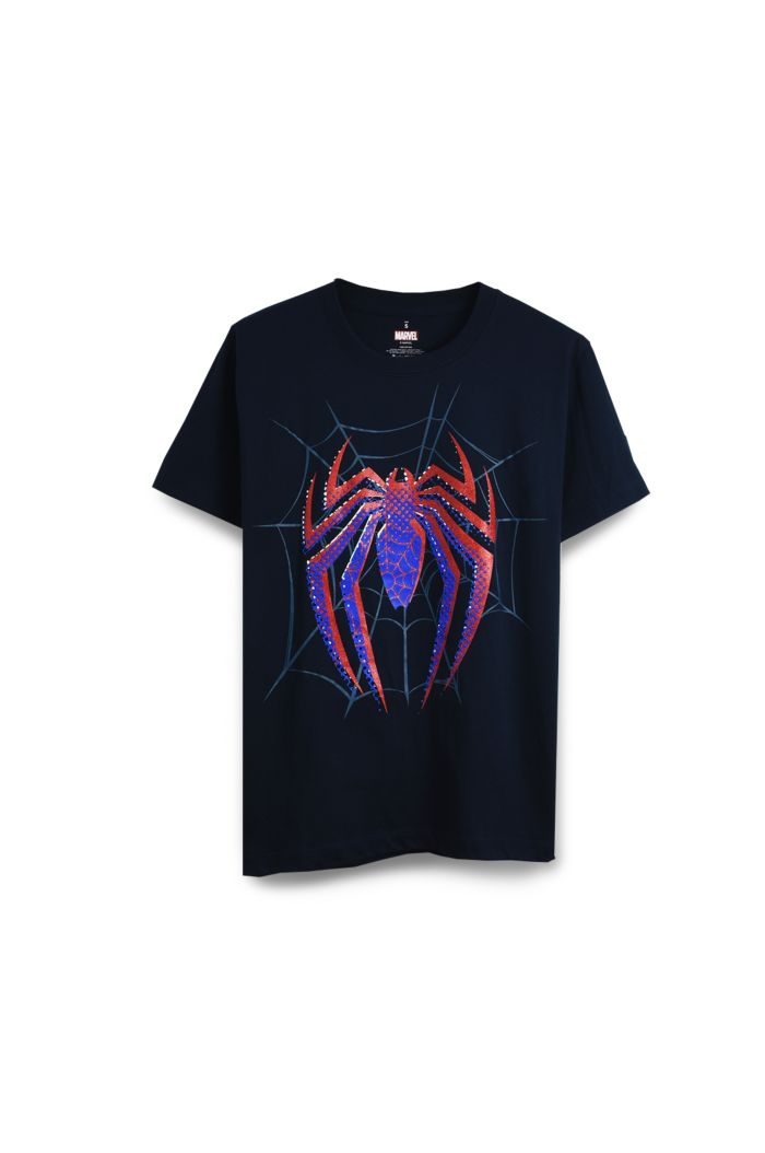 SPIDEY LOGO BLUE/RED T-SHIRT NAVY XS