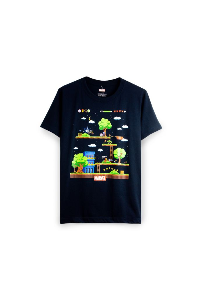 MARVEL 4 HEROS GAME T-SHIRT