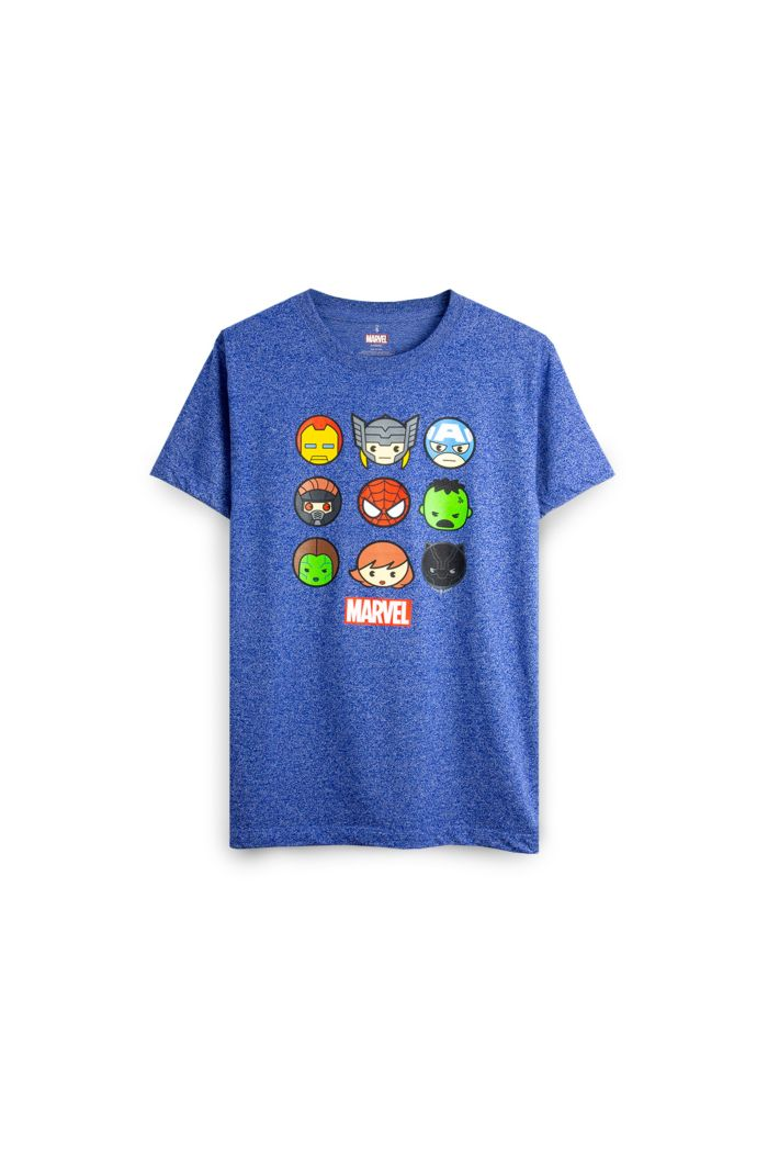 MARVEL 9 HEROS HEAD T-SHIRT