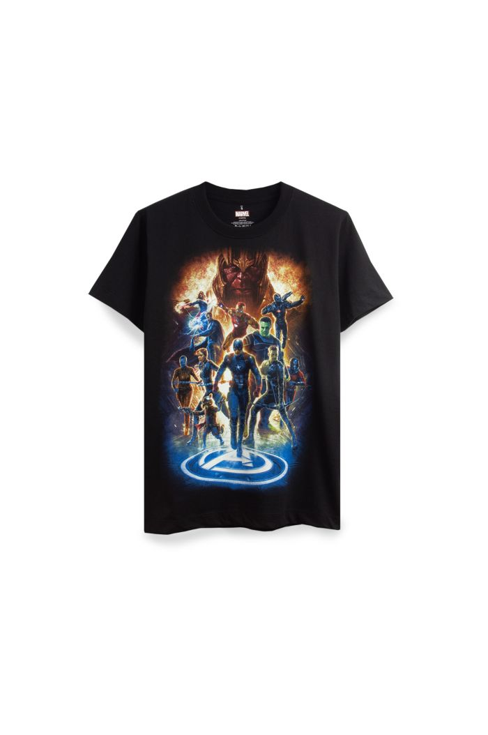 MARVEL END GAME GLOW AVENGERS T-SHIRT