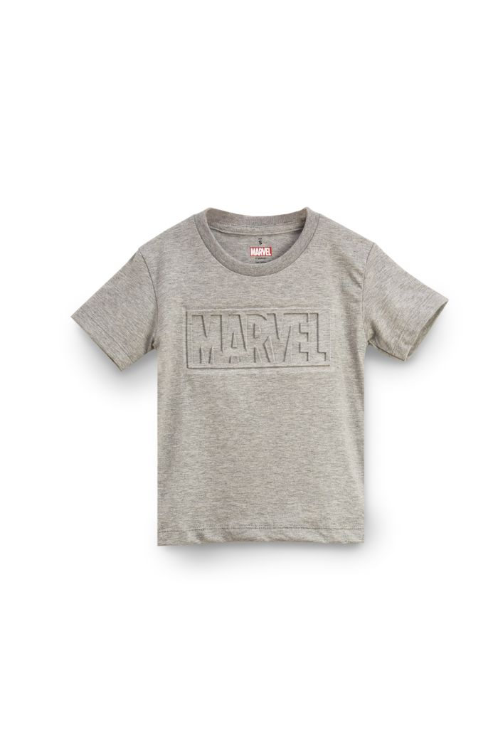 MARVEL EMBOSSED T-SHIRT - KIDS GREY S