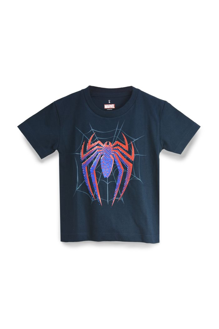 SPIDEY LOGO BLUE/RED T-SHIRT - KIDS NAVY S