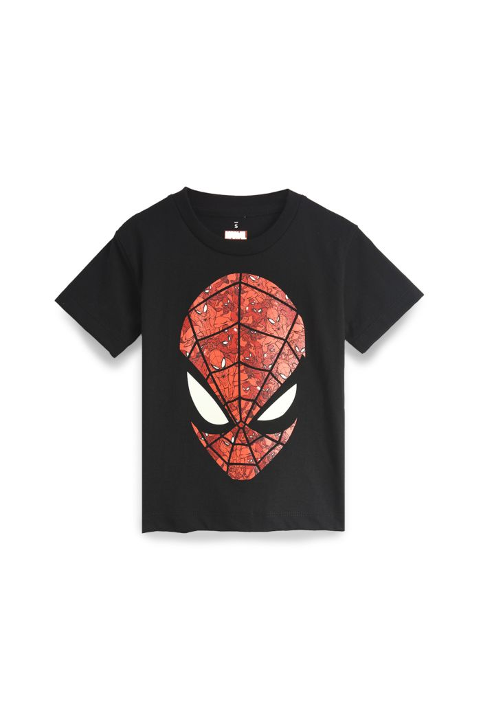 SPIDEY FACE T-SHIRT - KIDS BLACK S