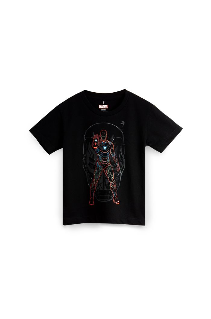 MARVEL END GAME IRON MAN LINES T-SHIRT - KIDS