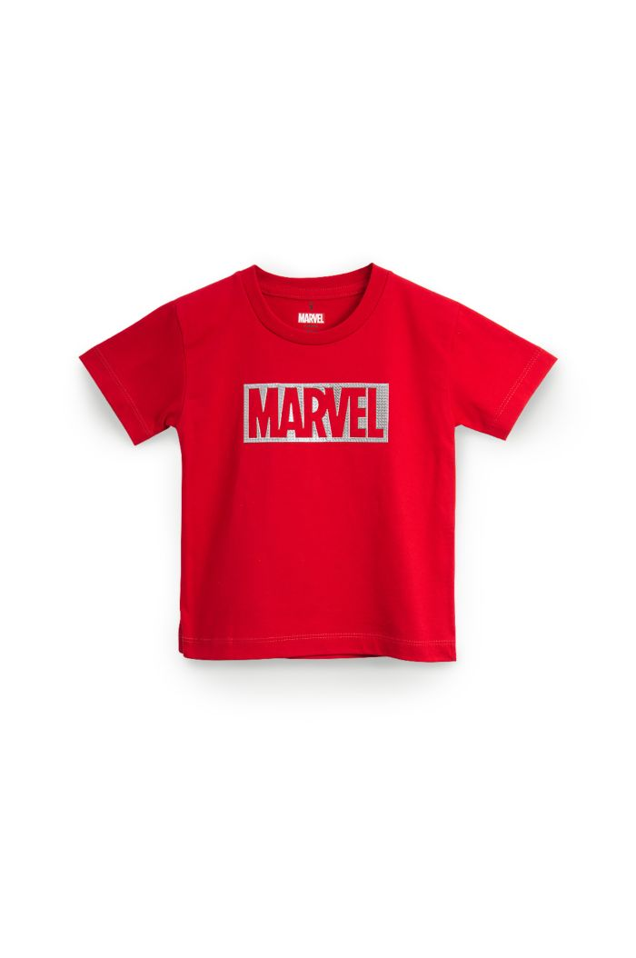 MARVEL SILVER T-SHIRT - KIDS RED S