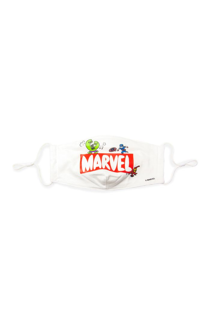 MARVEL LOGO DOODLE REUSABLE MASK WHITE M