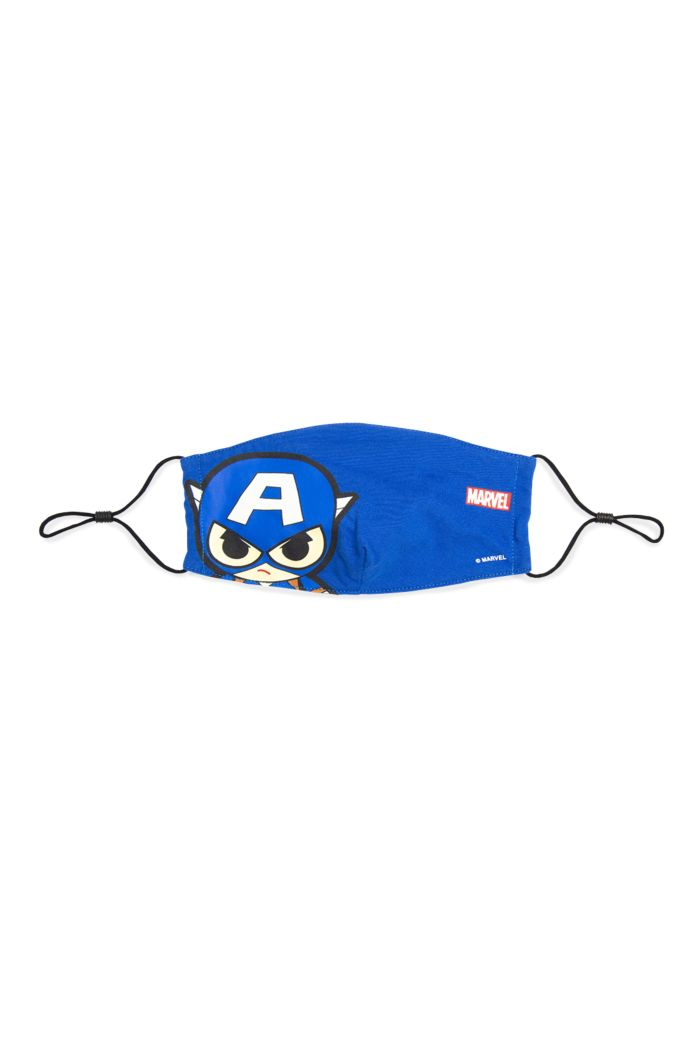 MARVEL CAPTAIN AMERICA FACE REUSABLE MASK BLUE M