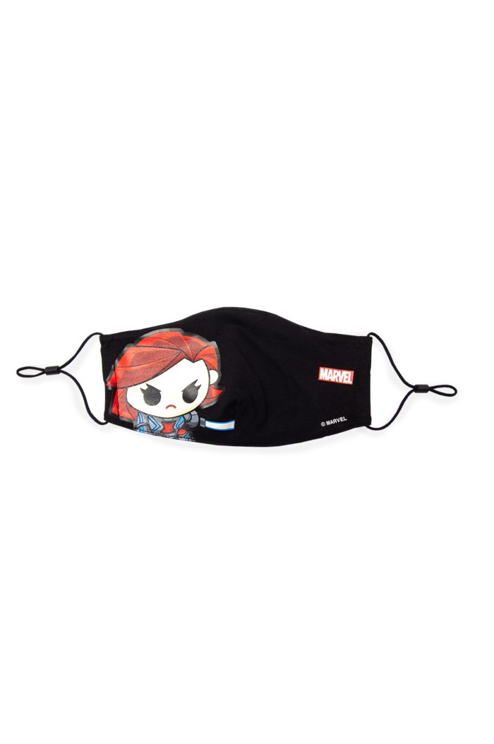 MARVEL BLACK WIDOW FACE GLOW REUSABLE MASK