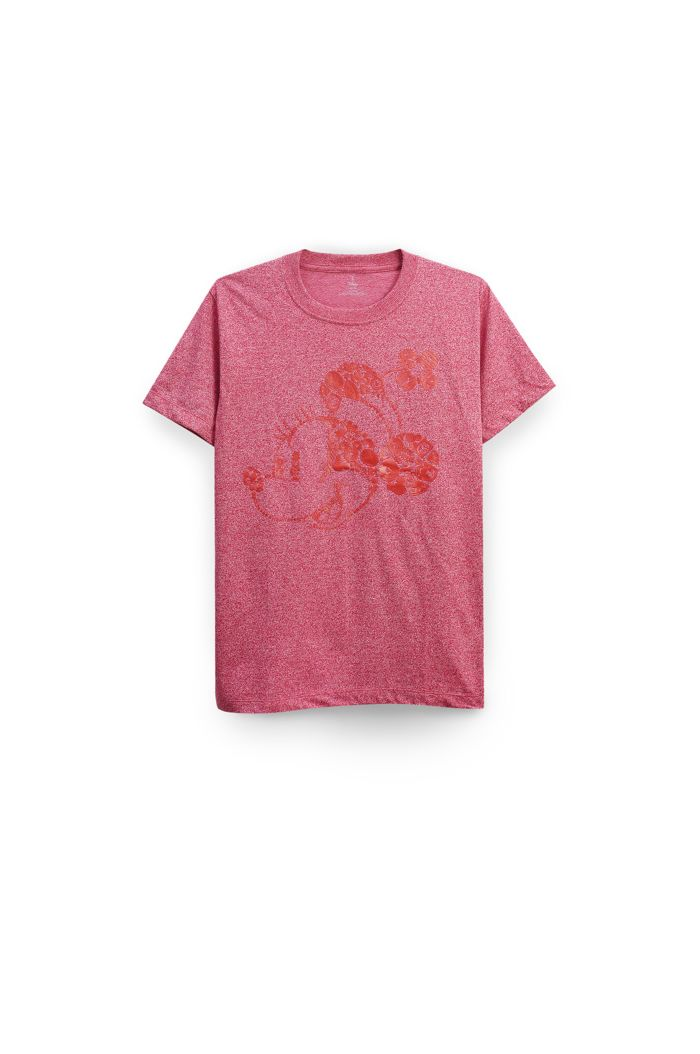 MINNIE ICONS T-SHIRT HEATHER RED XS