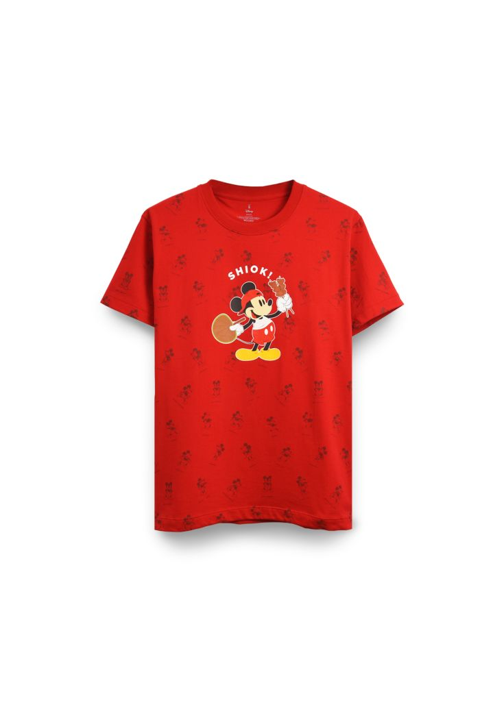 MICKEY SHIOK ALLOVER T-SHIRT RED XS