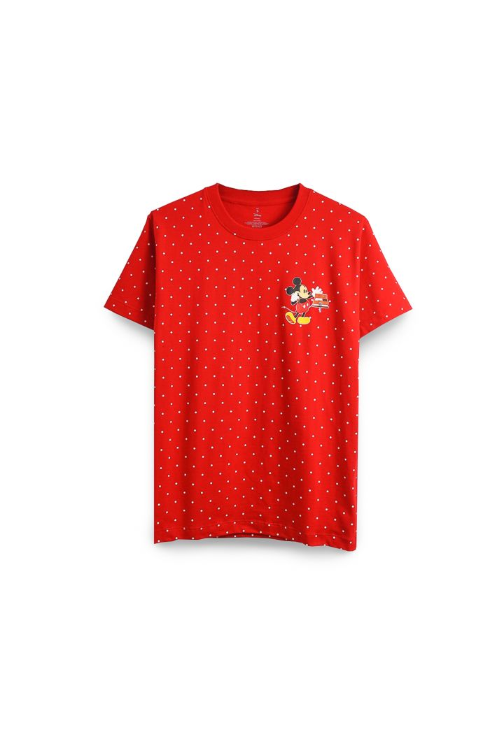 MICKEY CALL T-SHIRT RED XS