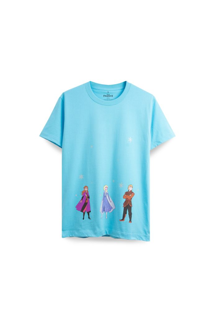 FROZEN II ALL CAST T-SHIRT BLUE XS