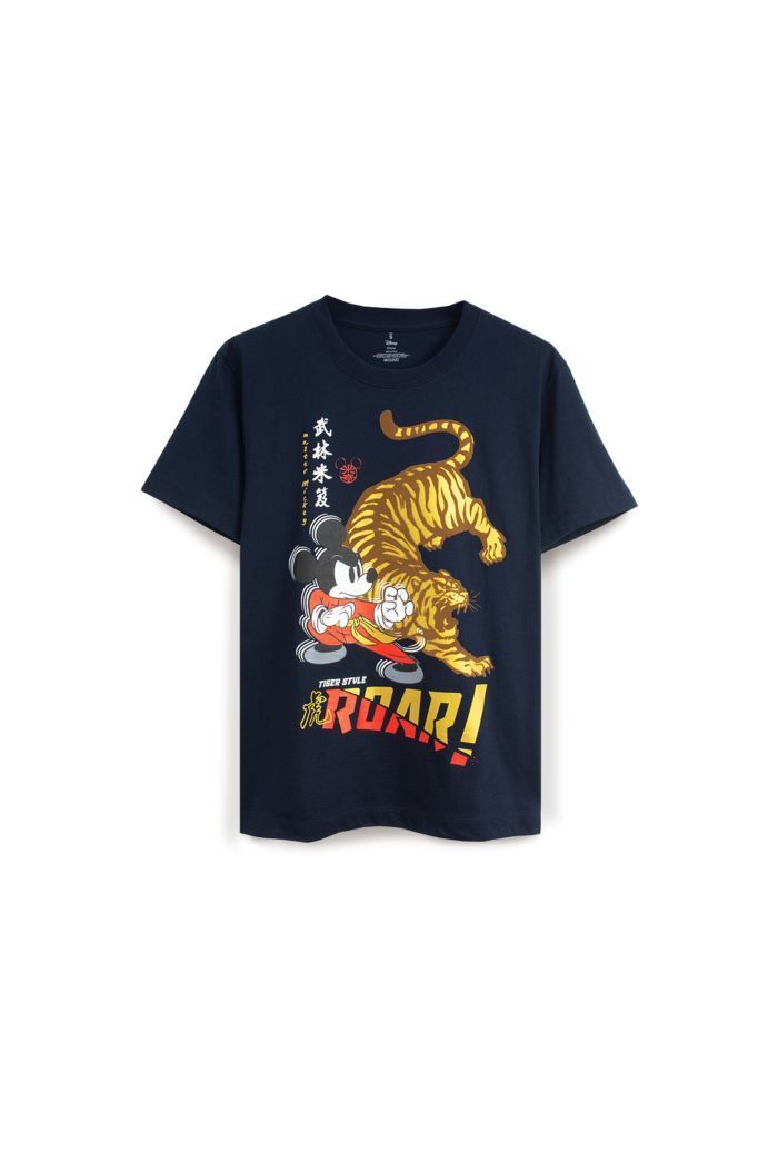MICKEY TIGER STYLE T-SHIRT NAVY XS
