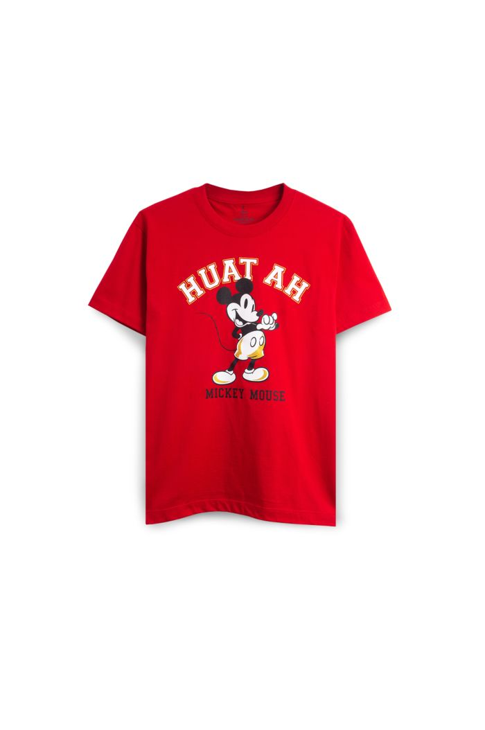 MICKEY HUAT COLLEGE T-SHIRT RED XS