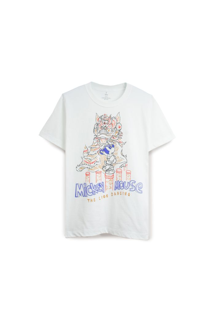 MICKEY LION DANCE T-SHIRT WHITE XS