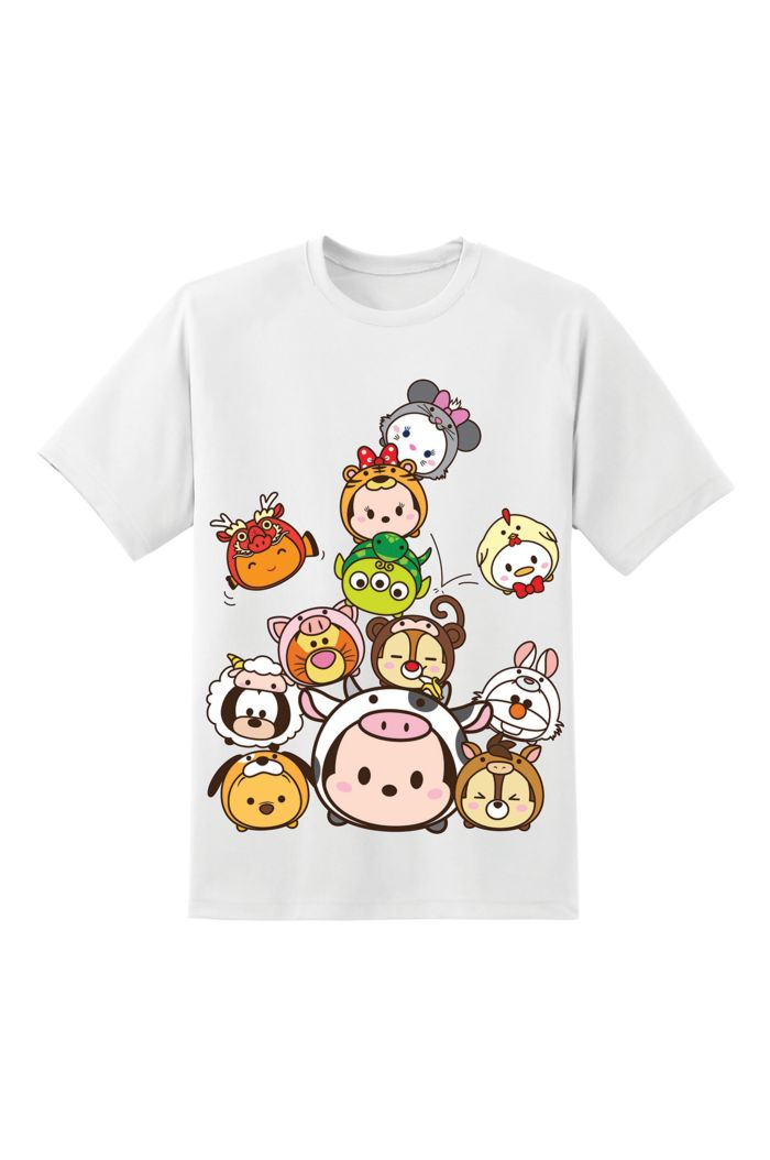 TSUM TSUM ZODIAC STACKED T-SHIRT WHITE XS