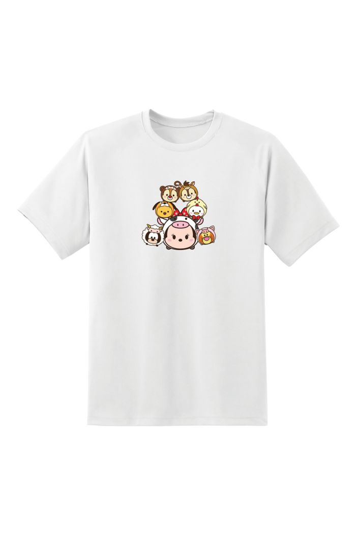TSUM TSUM ZODIAC MINNIE STACKED T-SHIRT WHITE XS