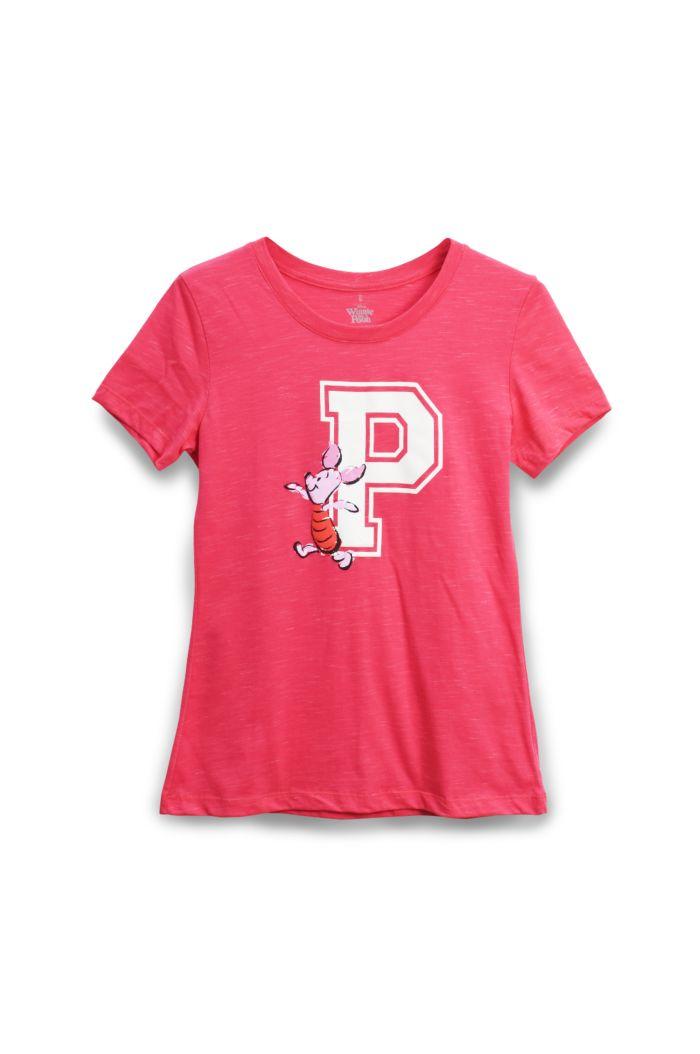 PIGLET T-SHIRT - LADIES PINK S