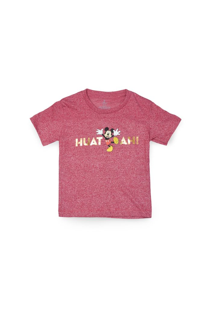 MICKEY HUAT AH T-SHIRT - KIDS RED S