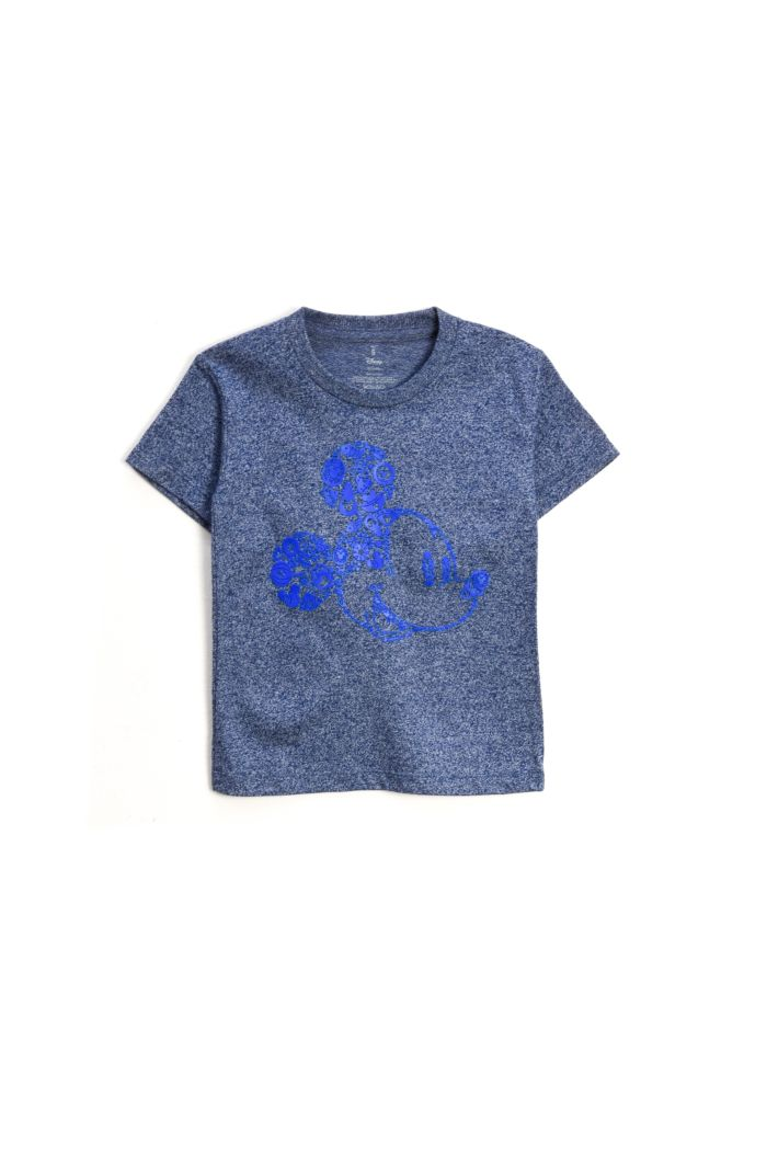 MICKEY ICONS T-SHIRT - KIDS HEATHER BLUE S