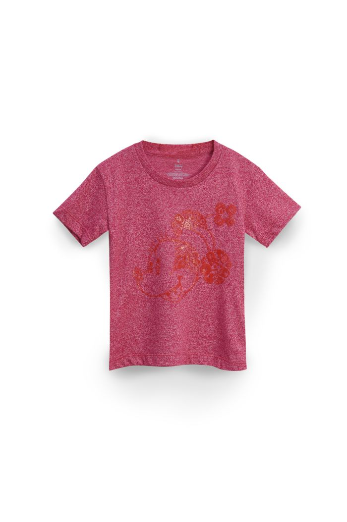 MINNIE ICONS T-SHIRT - KIDS HEATHER RED S