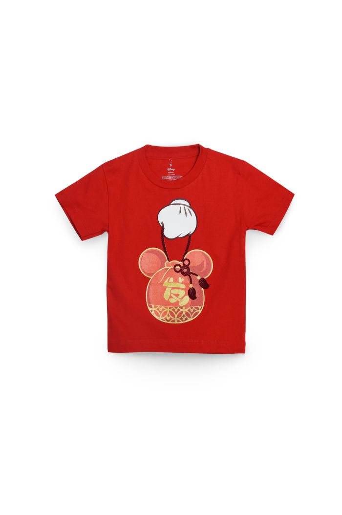 MICKEY CNY BAG T-SHIRT - KIDS RED S
