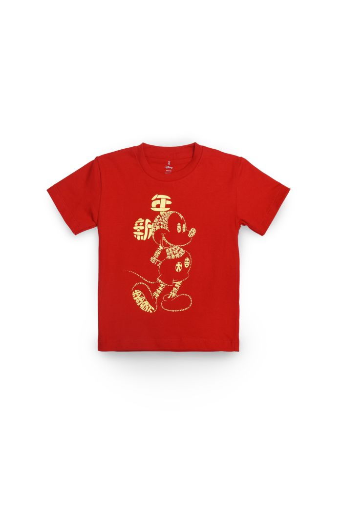 MICKEY CNY CALLIGRAPHY T-SHIRT - KIDS RED S