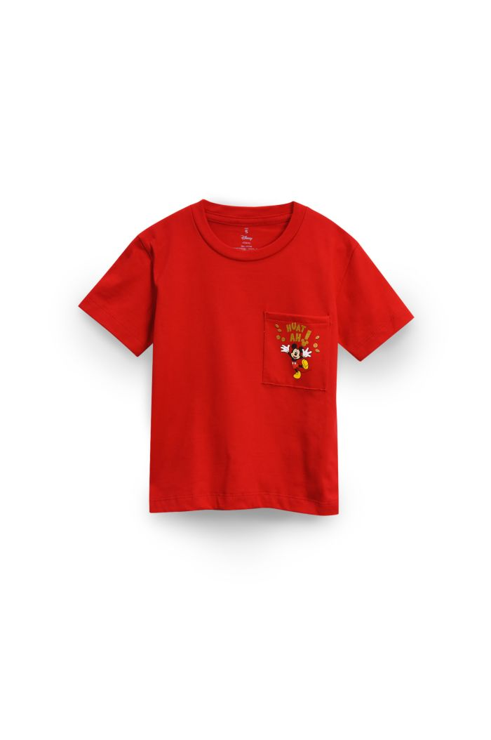 MICKEY HUAT POCKET T-SHIRT - KIDS