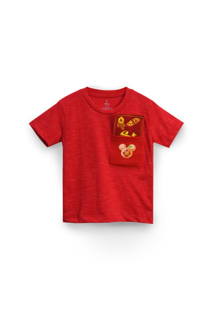 MICKEY MANDARIN POCKET T-SHIRT - KIDS