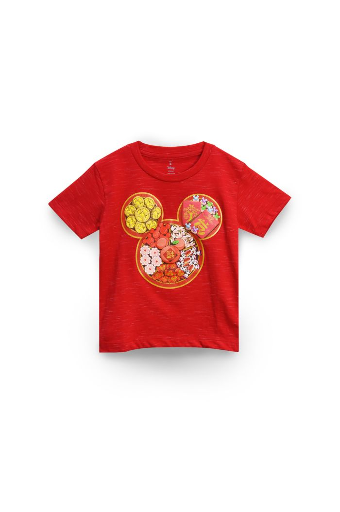 MICKEY CNY CANDIES T-SHIRT - KIDS RED S