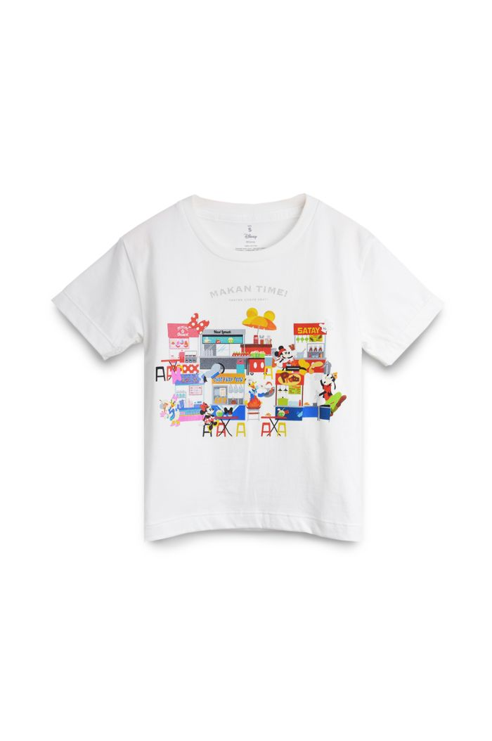 MICKEY FOOD FESTIVAL T-SHIRT - KIDS WHITE S