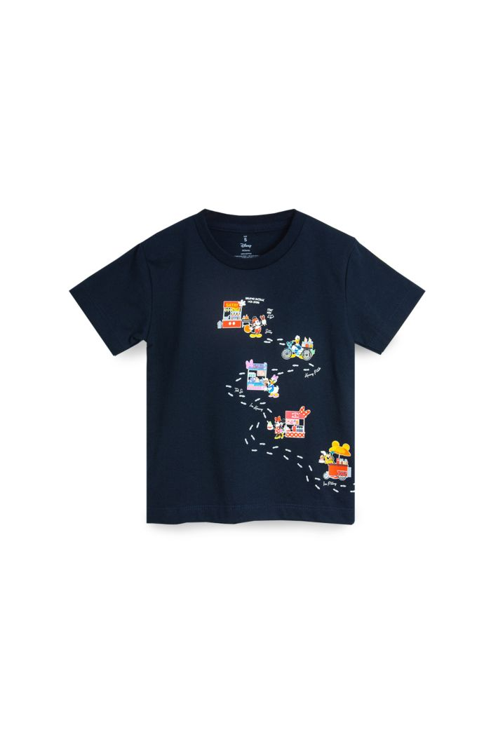 MICKEY CUISINE TRAIL GLOW T-SHIRT - KIDS NAVY S