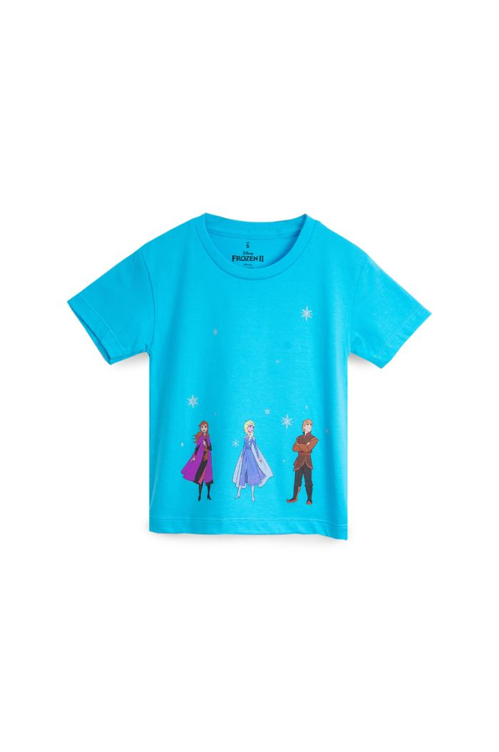FROZEN II ALL CAST T-SHIRT - KIDS BLUE S