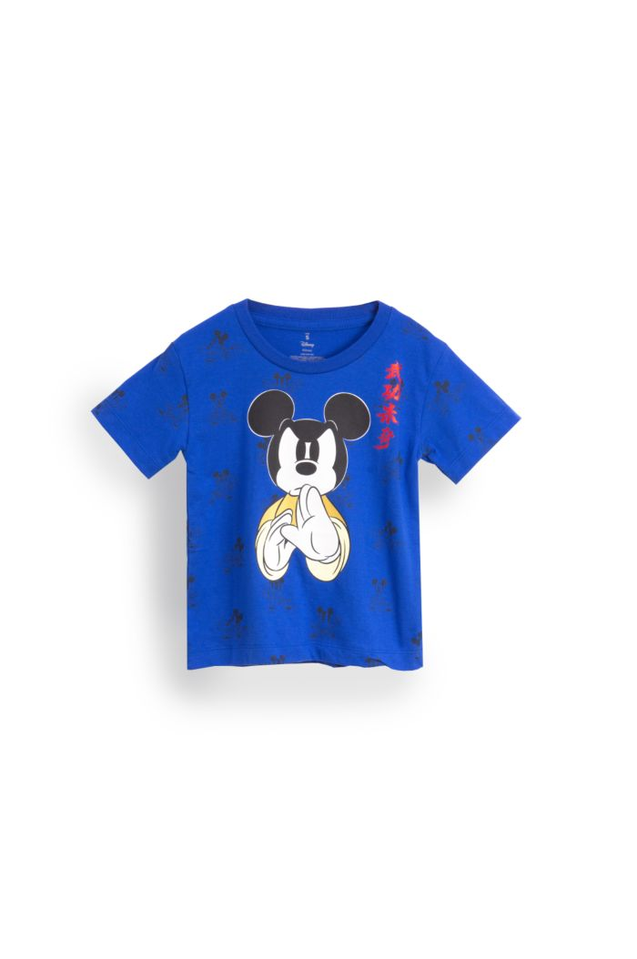 MICKEY KUNGFU MASTER T-SHIRT - KIDS BLUE S