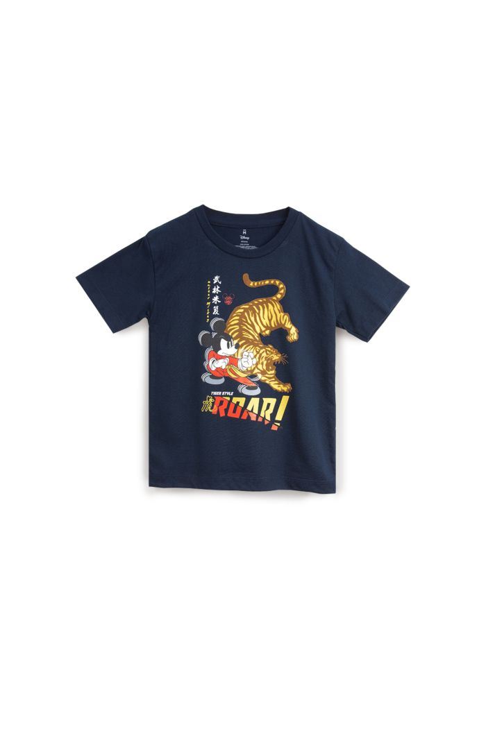 MICKEY TIGER STYLE T-SHIRT - KIDS NAVY S