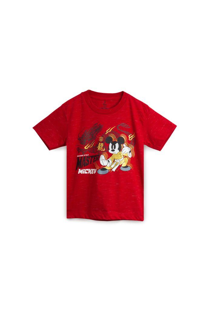 MICKEY DRAGON STYLE T-SHIRT - KIDS SLAF RED S