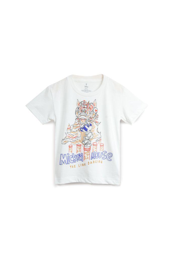 MICKEY LION DANCE T-SHIRT - KIDS WHITE S