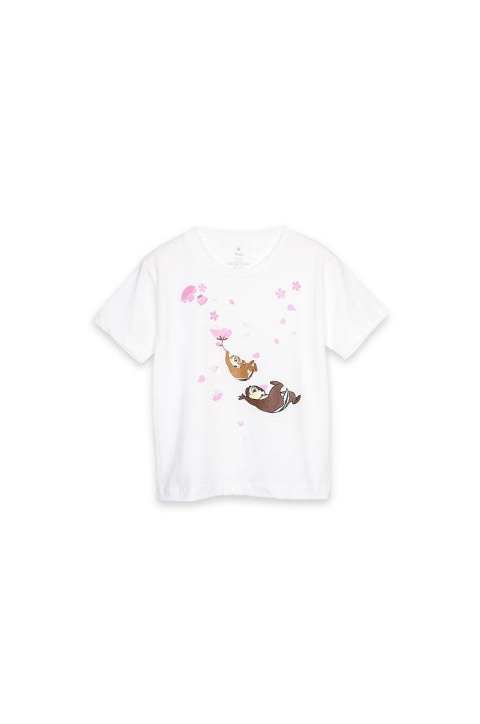 CHIP & DALE FALLING T-SHIRT - KIDS WHITE S