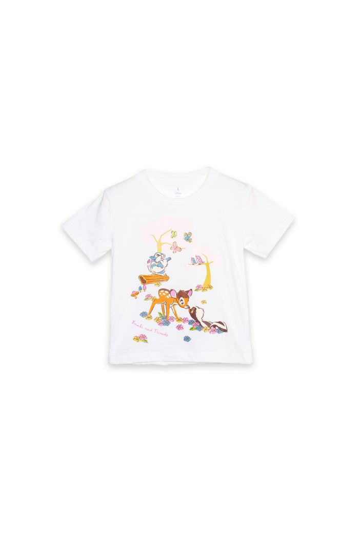 BAMBI FOREST T-SHIRT - KIDS WHITE S