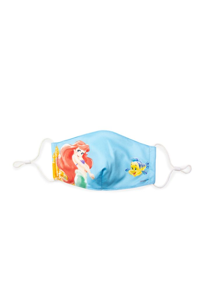 PRINCESS ARIEL FLOUNDER REUSABLE MASK BLUE M