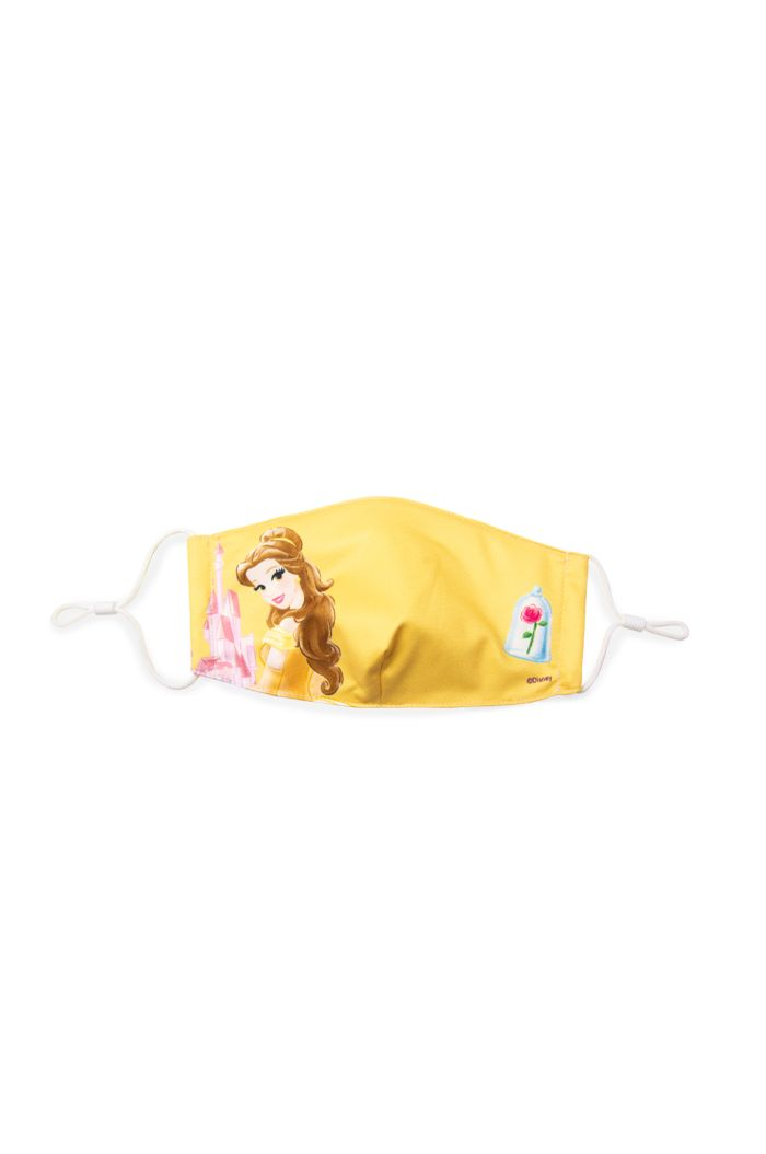 PRINCESS BELLE ROSE REUSABLE MASK YELLOW M