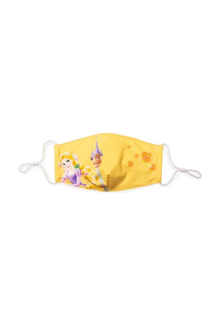 PRINCESS RAPUNZEL LANTERN REUSABLE MASK YELLOW M