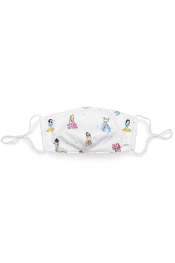 PRINCESS ALLOVER REUSABLE MASK WHITE L