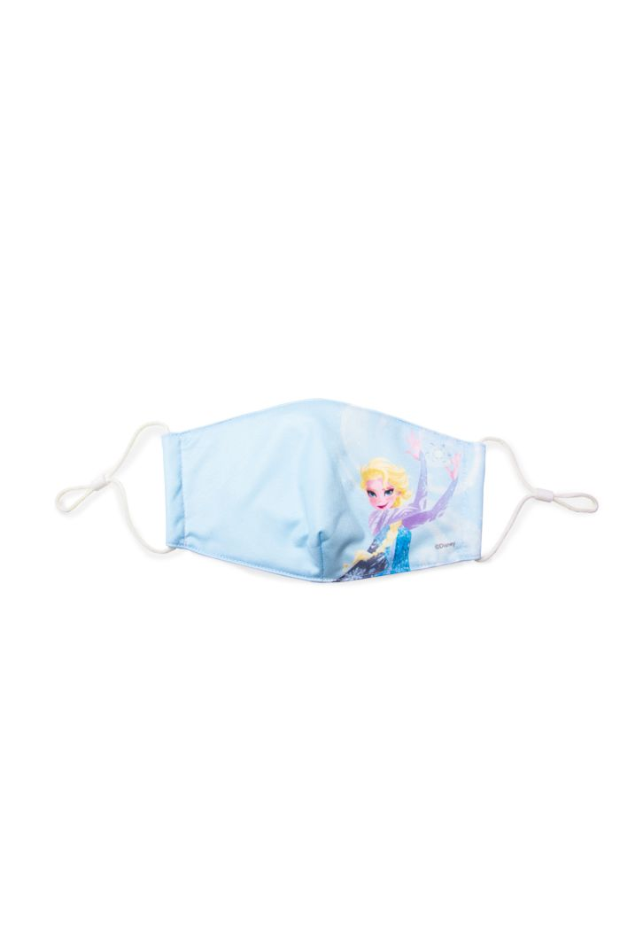 FROZEN II ELSA SWIRL REUSABLE MASK BLUE M