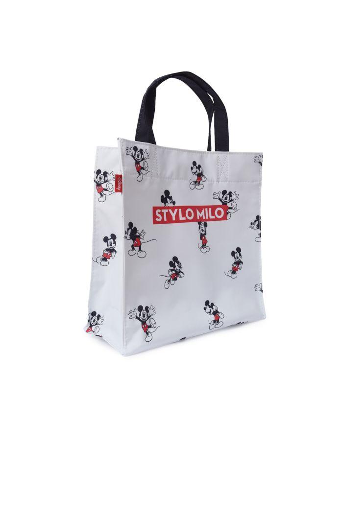 MICKEY STYLO MILO LUNCH BAG WHITE 23.5cm x 23.5cm