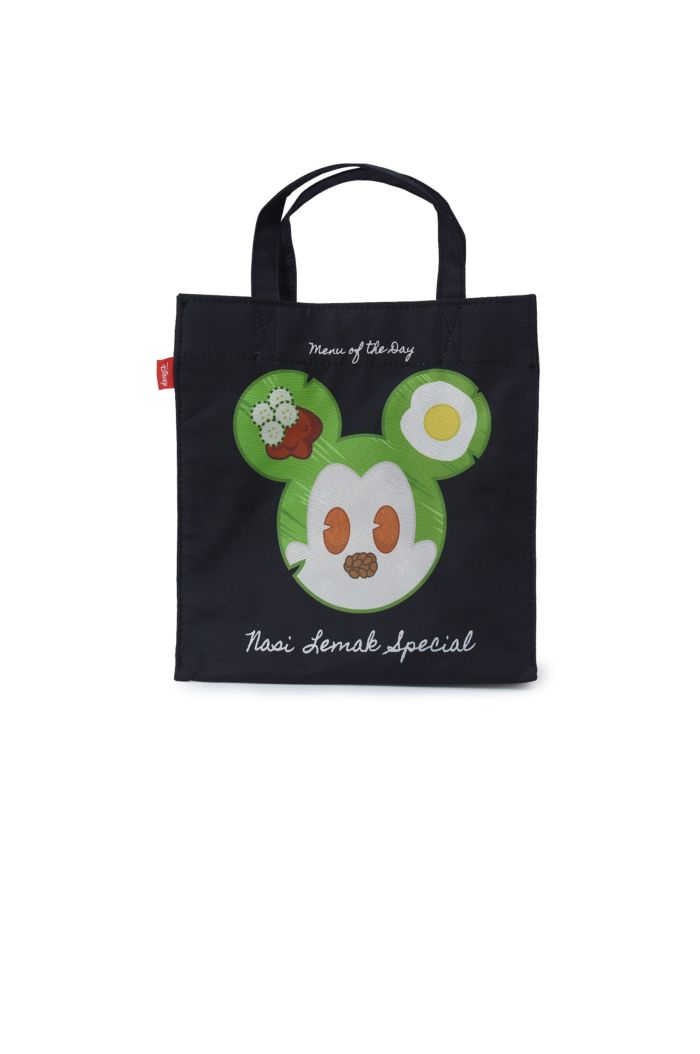 MICKEY NASI LEMAK LUNCH BAG BLACK 23.5cm x 23.5cm