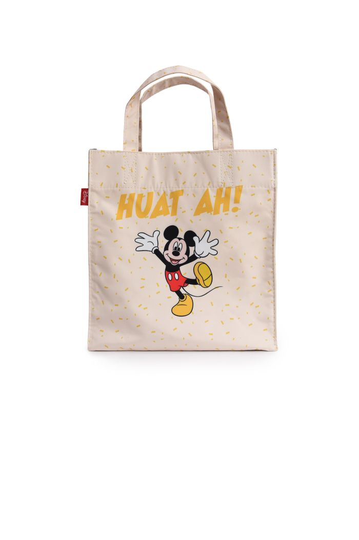 MICKEY CNY HUAT AH LUNCH BAG CREAM 23.5cm x 23.5cm